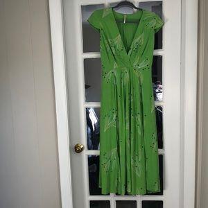 Free People printed woven midi dress